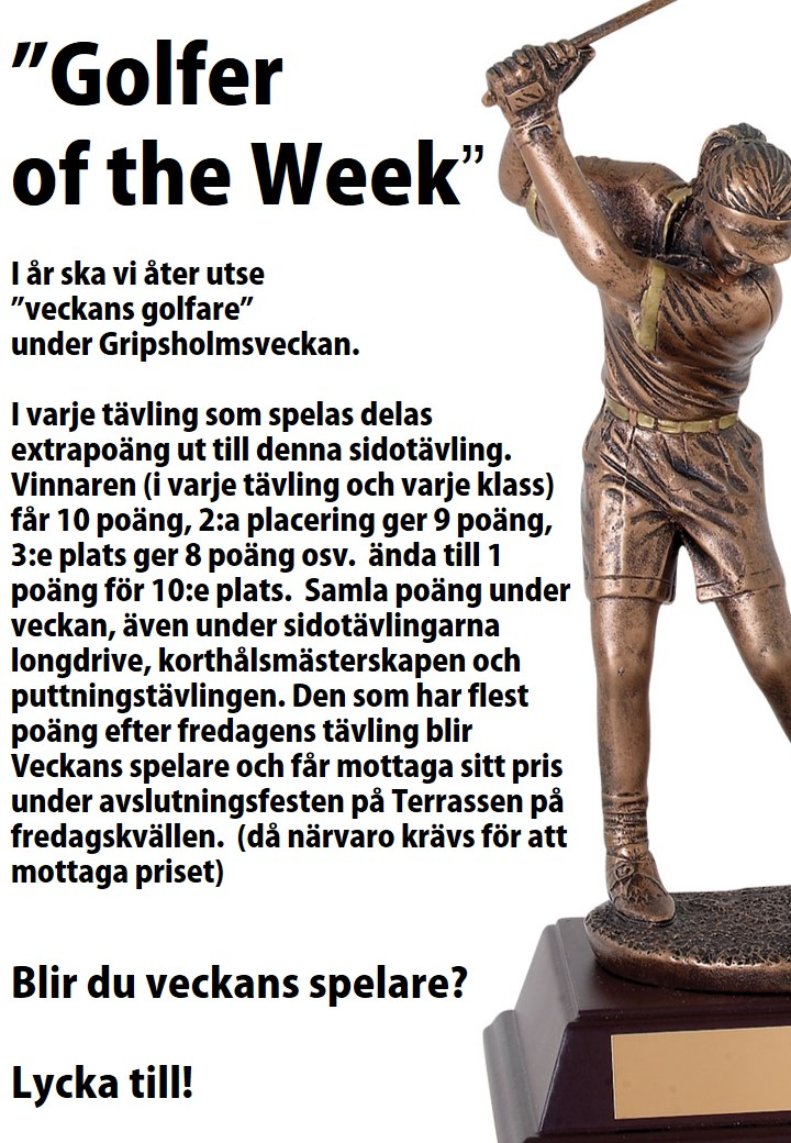Golfer of the week