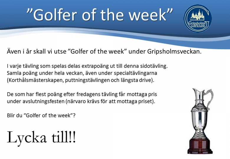 Golfer of the week 2014