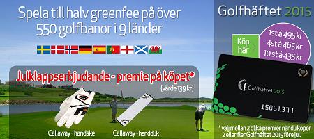 Golfhäftet 2015 julerbjudande